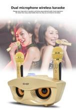Máquina de Karaoke portátil con micrófono inalámbrico, Altavoz Bluetooth para fiesta en casa, boda, hogar, KTV