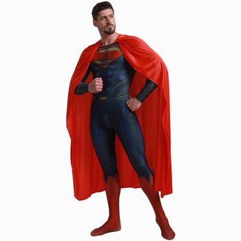 Deluxe Superman Costume Adult Men Superman Cosplay Costume Kids Justice League Superhero Costume Halloween Costume Men wholesale superman halloween cosplay clothing spider chivalrous tights superman clothes bat halloween children performance