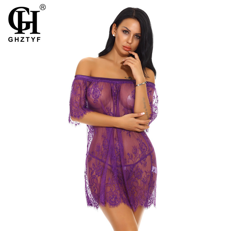 Sexy Underwear Transparent Babydoll Lingerie Plus Size Women Erotic Costumes Hot Porno Nighty Dress For Sex Clothes Girls