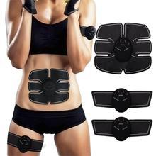 Беспроводной стимулятор мышц живота, смарт тренажер, тонизирующий пояс, Электрический массажер для снижения веса, для похудения, унисекс