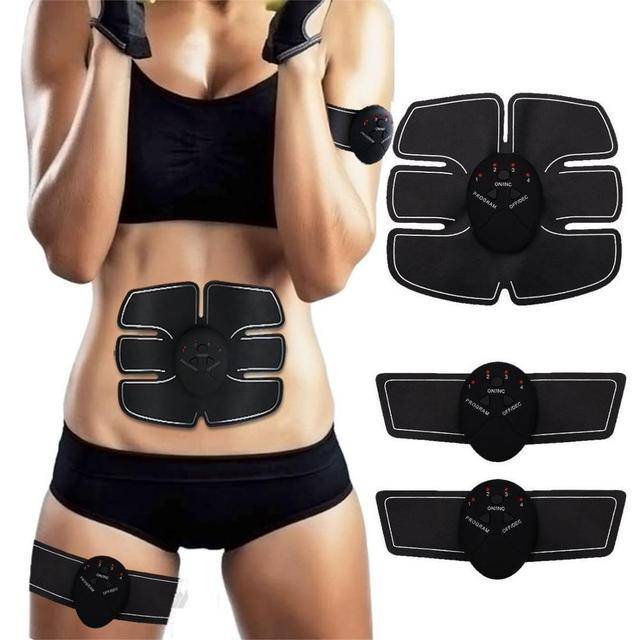 EMS Wireless Abdominal Muscle Stimulator Smart Trainer Muscle Toning Belts Electric Weight Loss Massager Body Slimming Unisex