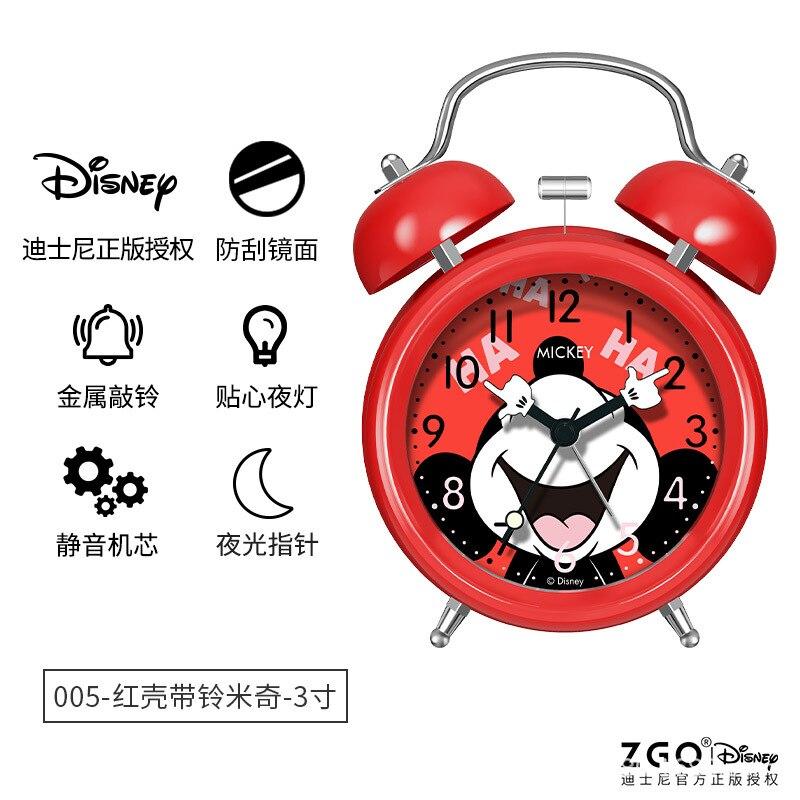Дисней мультфильм будильник часы Микки Маус девочки спальня для детей немой студенты милые прикроватные светящиеся часы
