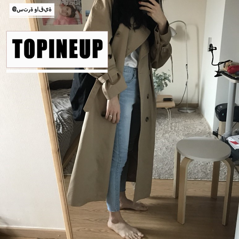 Large Size Lapel Outfit Coat Korean Women Casual Solid Color Double Breasted Outwear Sashes Office Chic Long   Trench   Windbreaker