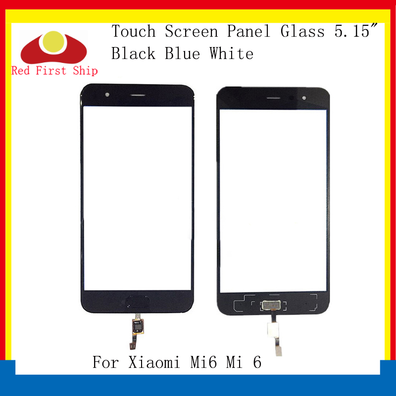 10Pcs lot Touch Screen For Xiaomi MI 6 Mi6 Touch Panel Digitizer Sensor Front LCD Glass Lens Mi6 With FingerPrint Replacement in Mobile Phone Touch Panel from Cellphones Telecommunications