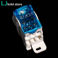 цены UKK125A Terminal Block 1 in many Out Din Rail distribution Box Universal Electric Wire Connector Power junction box