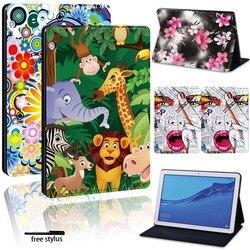 Чехол-подставка из искусственной кожи для Huawei MediaPad T5 10 10,1/T3 10 9,6/T3 8,0/M5 Lite 10,1/M5 10,8