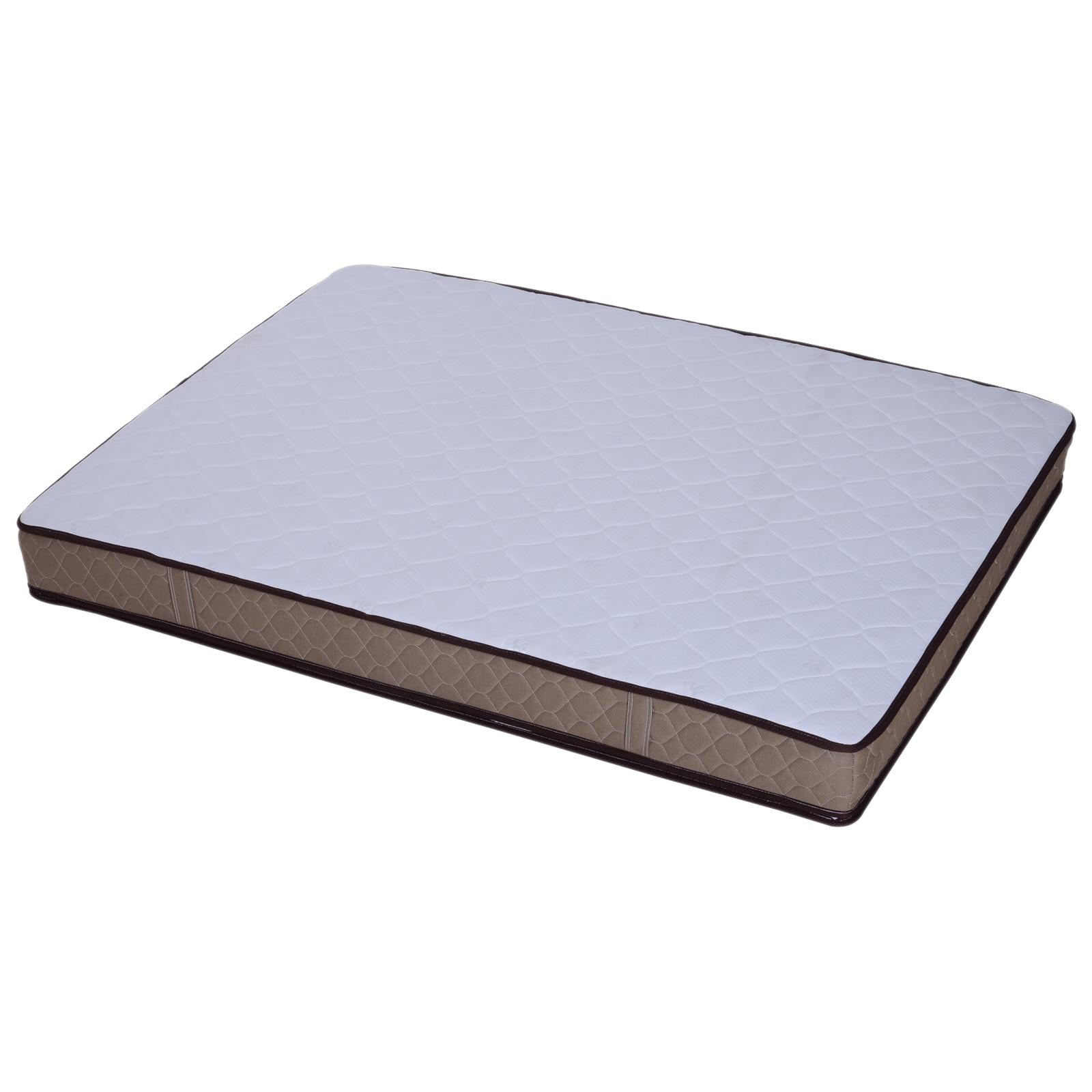 HOMCOM Quilting Mattress Bed 1 Square & half Thickness 23 cm Anti Mite 150x200x23cm White