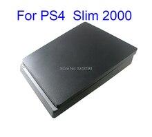 Için tam konut çantası PS4 ince 2000 konsolu için siyah renk PS4 2000 konsol konut durumda ev kabuk var logosu PS4 ince 2000
