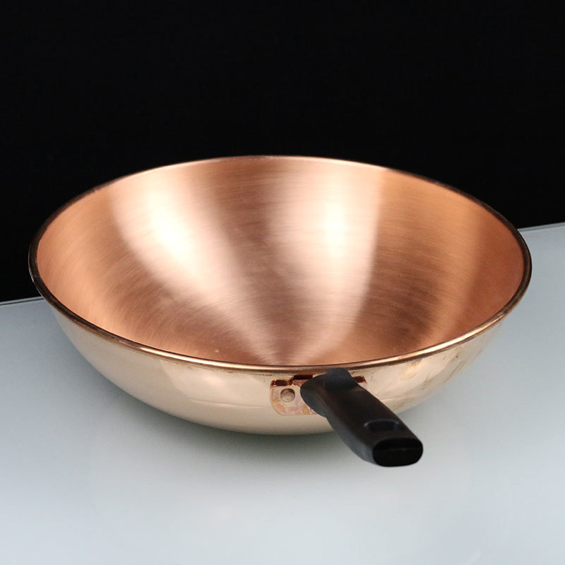 Pure Copper Gas Induction Wok Pan