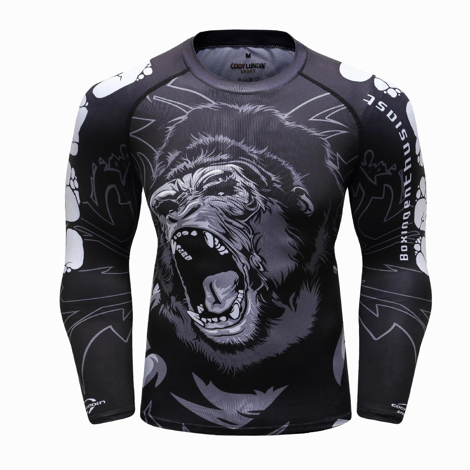 3D MMA T Shirt Herren Rashguard Jiu Jitsu Bjj T-shirt Compression Shirt Muay Thai Breathable Boxing Jerseys Fight Jersey Men's