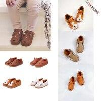 Niños Don marca Shoses nuevos niños pequeños bebés niñas niños zapatos de dibujos animados de cuero genuino para niñas niños zapatos de vestir Retro