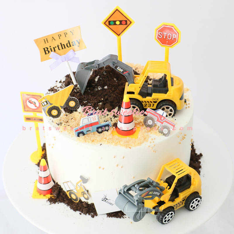 Swell Under Construction Cake Topper Dump Truck Decoration Construction Birthday Cards Printable Benkemecafe Filternl