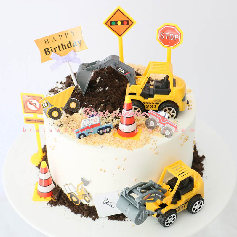 Remarkable Under Construction Cake Topper Dump Truck Decoration Construction Funny Birthday Cards Online Elaedamsfinfo