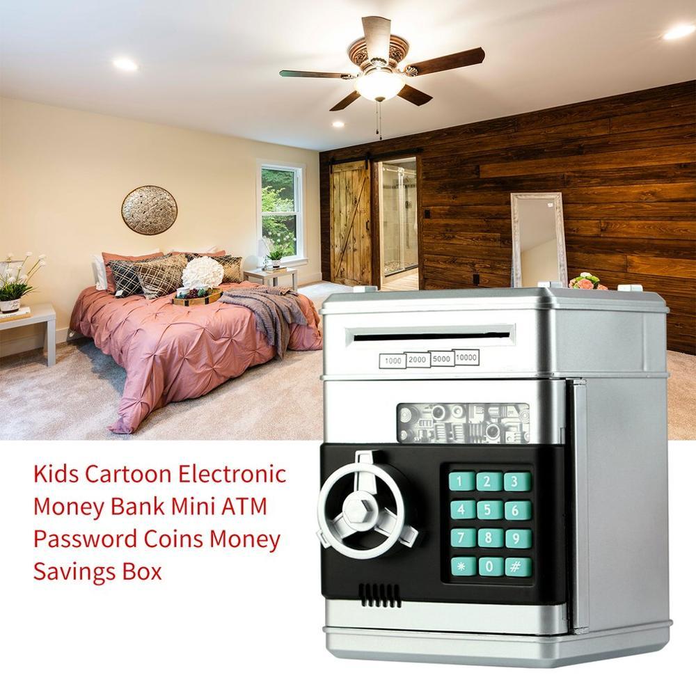 Kids Cartoon Electronic Money Bank Security Piggy Bank Mini ATM Password Coins Money Savings Box Smart Voice Toys