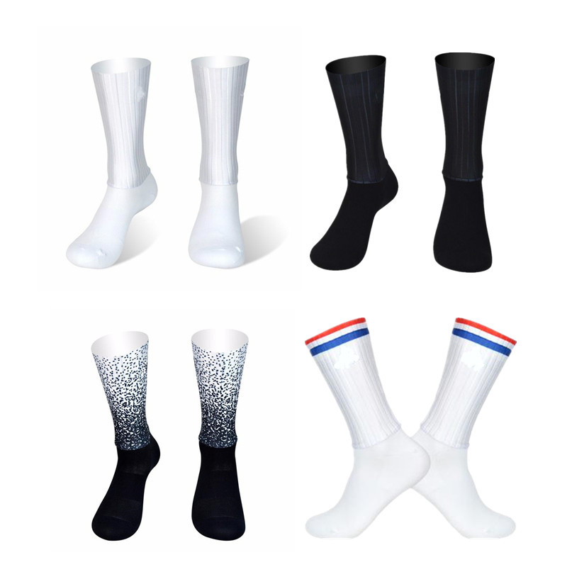 9 Colors Aero Socks Seamless Silicone Anti Slip Cycling Socks Road Bicycle Socks Sport Outdoor Racing Bike Compression Socks