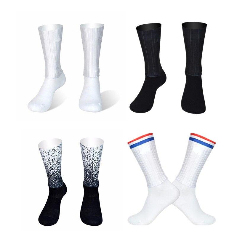 9 Colors Aero Socks Seamless Silicone Anti Slip Cycling Socks Road Bicycle Socks Sport Outdoor Racing Bike Compression Socks