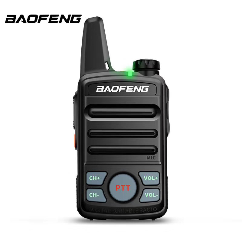 2pcs BF-T99 MINI UHF BAOFENG Walkie Talkie 400-470MHz Dual Ptt Compact Small Baofeng Radio With Earphone