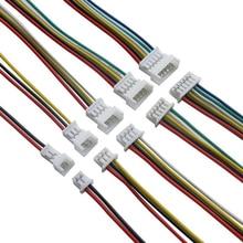 10 pares jst 1.25 macho fêmea fio conector passo 1.25mm 2p 3p 4p 5p 6p jst plug jack terminal cabo conector comprimento 10cm