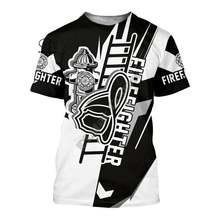 Ух девушка пожарный пожарных hero 3dprinted новейшая футболка