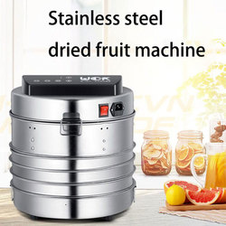 220V Household Small Fruit sliced fruit machine stainless steel intelligent Dryer pet Food dehydrator Medicinal herbs Air dryer