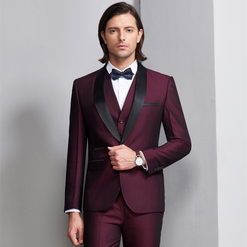 Business Casual Mens Suit Single Breasted Blazer Straight Pants 3 Pieces Wedding Party Set Male Slim Fit Suit Set Plus Size 4XL