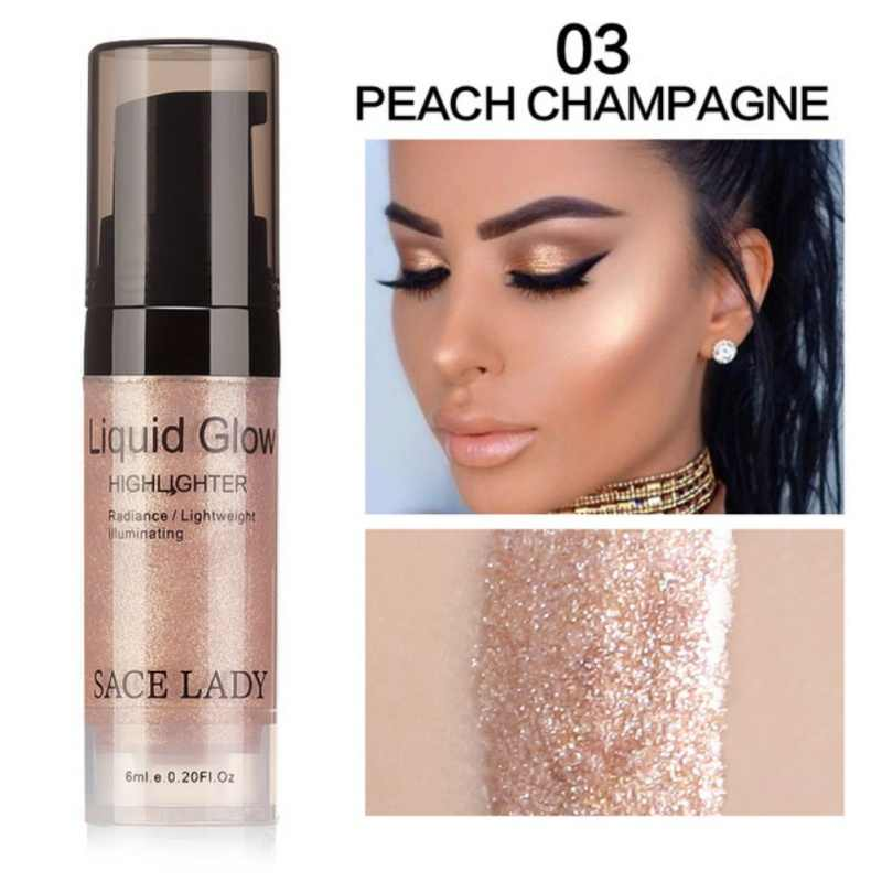 Illuminator Makeup Highlighter Cream for Face and Body Shimmer Makeup Liquid Brighten Professional Glow Face Makeup Kit Cosmetic