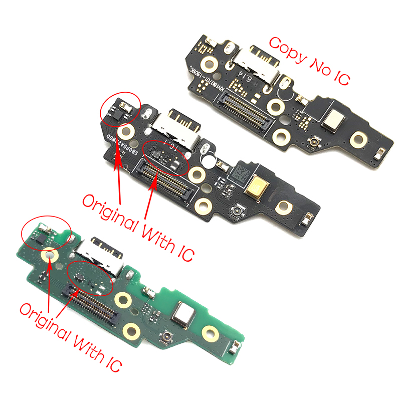 USB Flex Cable Dock Connector Charging Port Charger Board For Nokia 5.1 Plus / For Nokia X5 Replacement