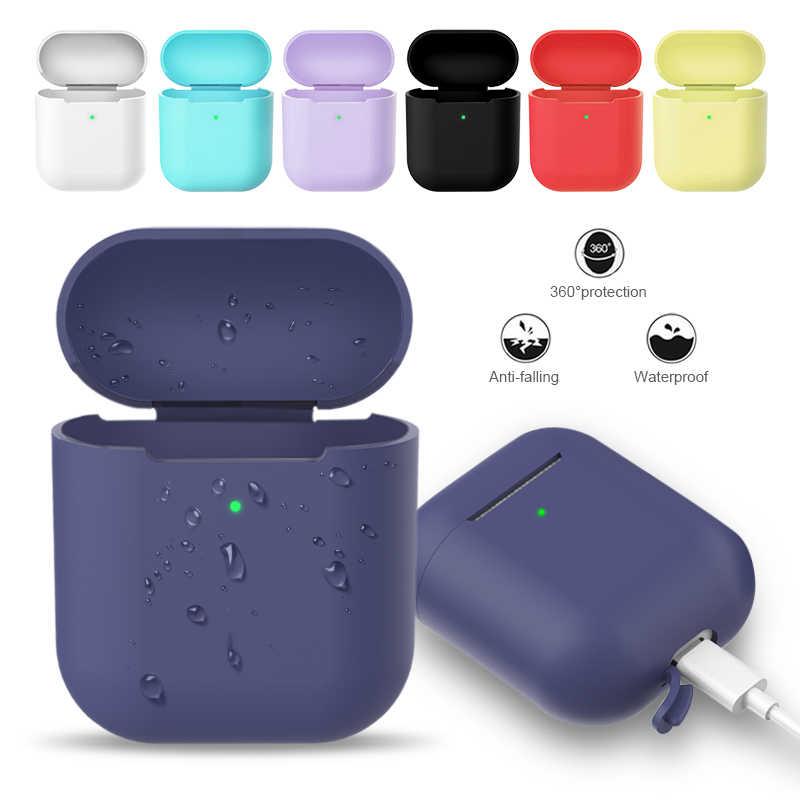 Tai Nghe Chụp Tai Dành Cho Tai Nghe Airpods 2 Ốp Lưng Silicon Tai Nghe Không Dây Bluetooth Bảo Vệ Cho Không Khí Vỏ Airpod Ốp Lưng Phụ Kiện