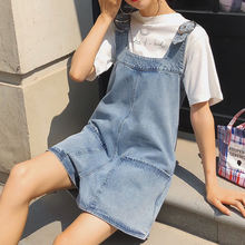 Корейский Стиль на лямках из джинсовой ткани цельная женская