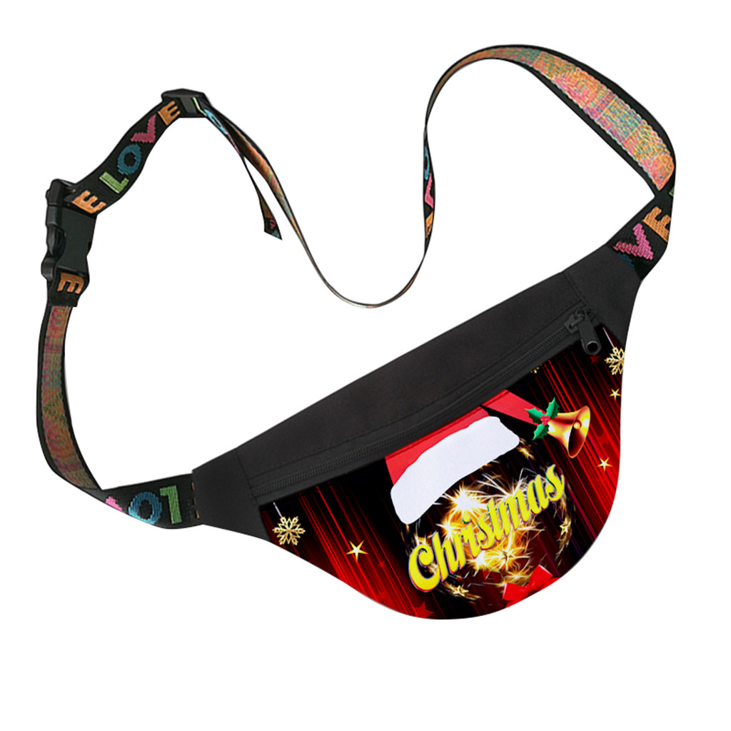 Waistbags Christmas Women's Leisure Fashion Sport Messenger Chest Bag Waist Packs Oxford Casual Animal Printed Cute Luxury Gifts