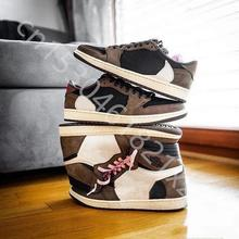 2020 brand update Travis scottsx basketball shoes deerskin 1 high Og suede fashion unique designer bronze black sneakers for men