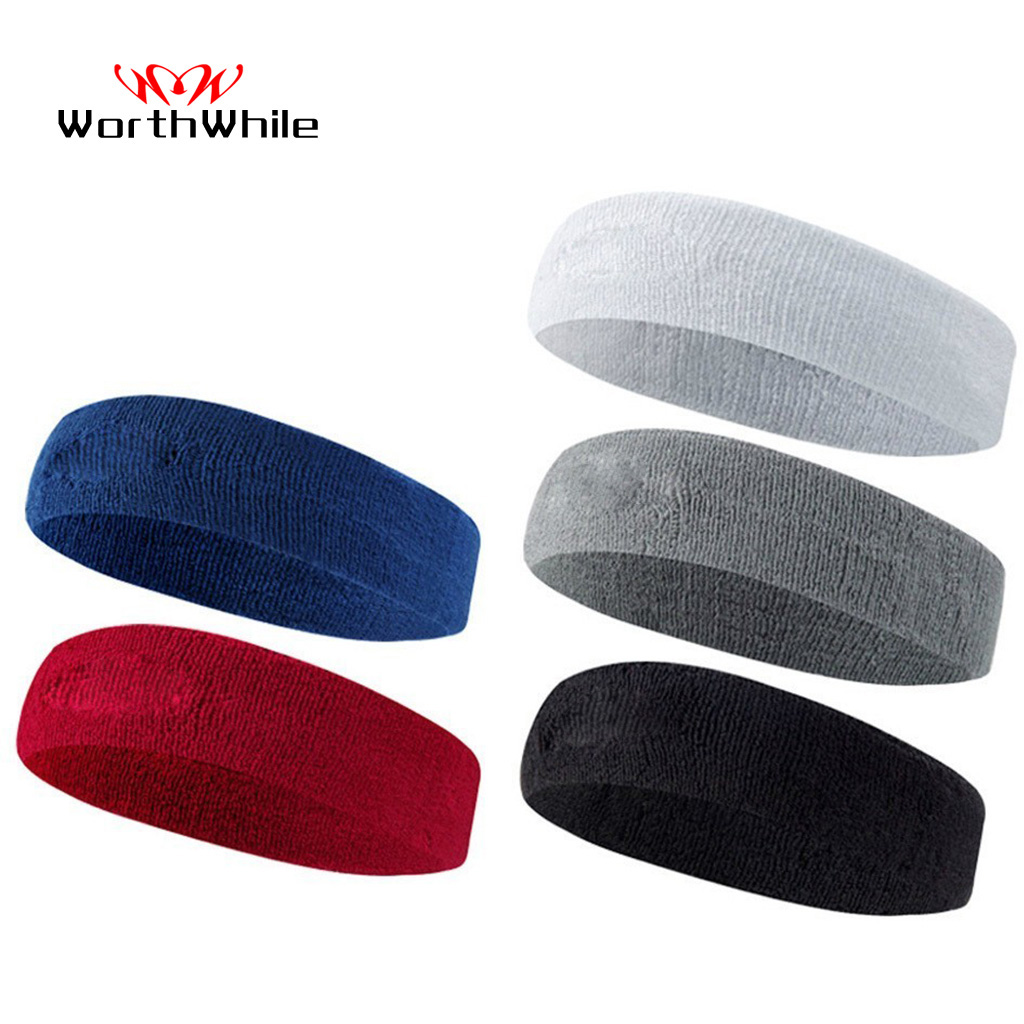 WorthWhile Cotton Elastic Sweatband Basketball Sports Headband Women Men Gym Fitness Sweat Hair Band Volleyball Tennis Running|Sweatband|Sports & Entertainment - title=