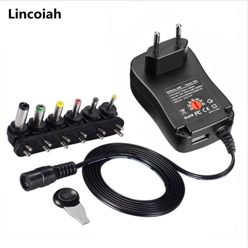 Adaptador de corriente de 3V, 4,5 V, 5V, 6V, 7,5 V, 9V, 12V, 2a, 2,5 a, AC/DC, adaptadores de alimentación ajustables para EE. UU., UE, Reino Unido y Australia, Cargador Universal USB|Adaptadores CA/CC|   - AliExpress