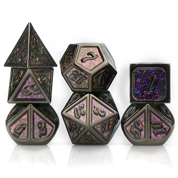 Dnd dice metal dice set polyhedral dice d&d dice dungeon and dragon rainbow dice rpg dice galaxy dice with bag d20 d10 d8 d12 d6 10pcs d10 sided polyhedral dice for tabletop rpg world of darkness vampire set of 10 d10