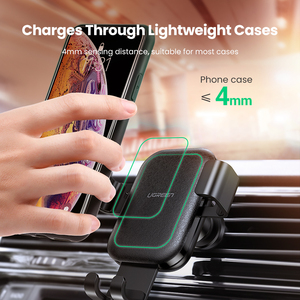Image 4 - UGREEN Qi Car Wireless Charger for Samsung S9 10 Xiaomi Car Mount Hoder Car Charger Fast Wireless Charging For iPhone 11 XS X 8