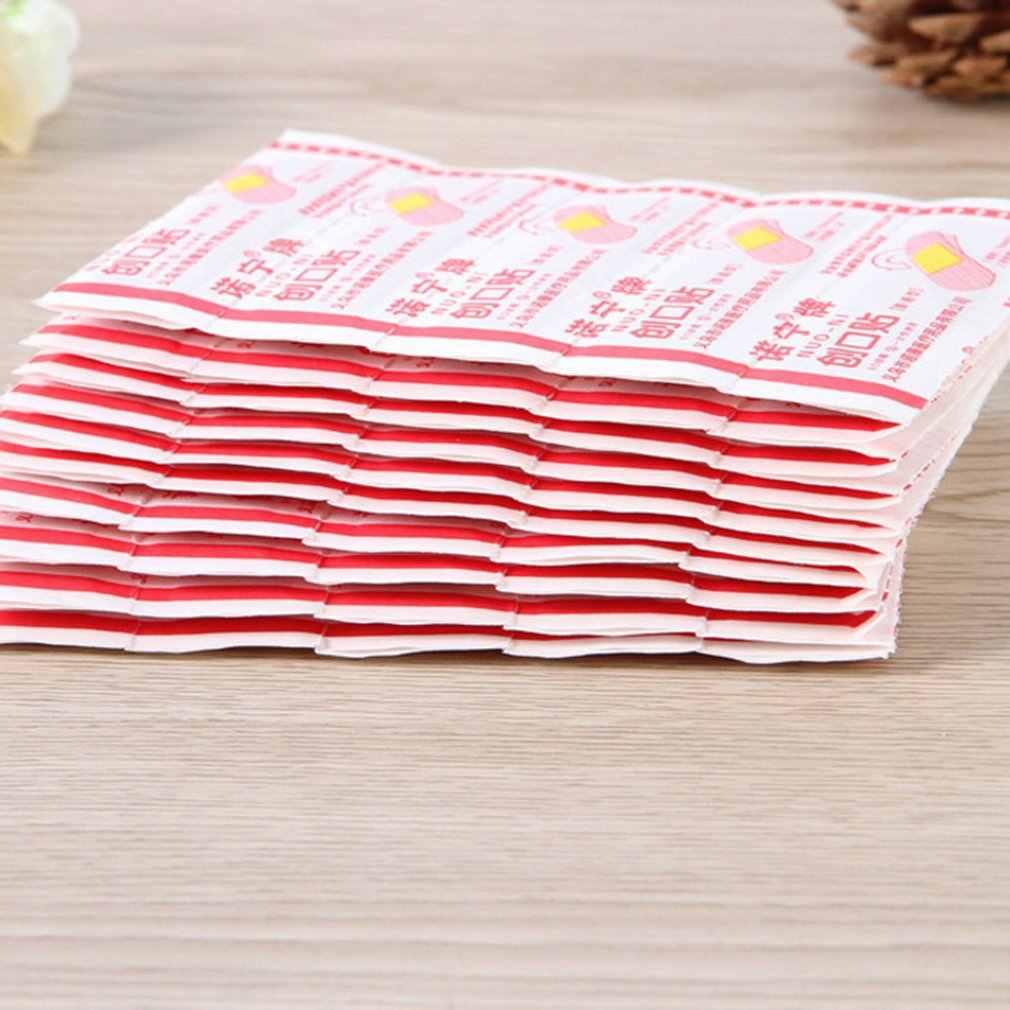 Waterdichte Pleister Bandages Ademend Wonden Toepassing Patch 50 Stuks 100 Stuks Flexibele Stof Pleisters