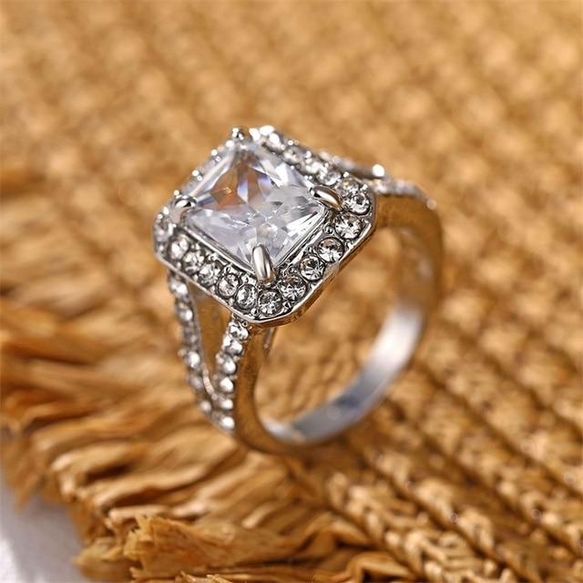 Square AAA Australian Crystal Rings 3