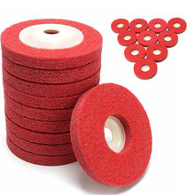 Red Polishing Discs Wheels For Metal Fabrication Foundry Automotive Accessory(China)