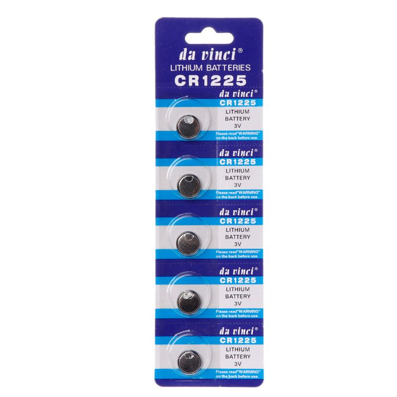 5PCS Lithium Battery CR1225 <font><b>Electronic</b></font> Coin Cell Button Batteries 3V LM1225 BR1225 KCR1225 CR 1225 Watch <font><b>Car</b></font> <font><b>Key</b></font> Toy Remote image
