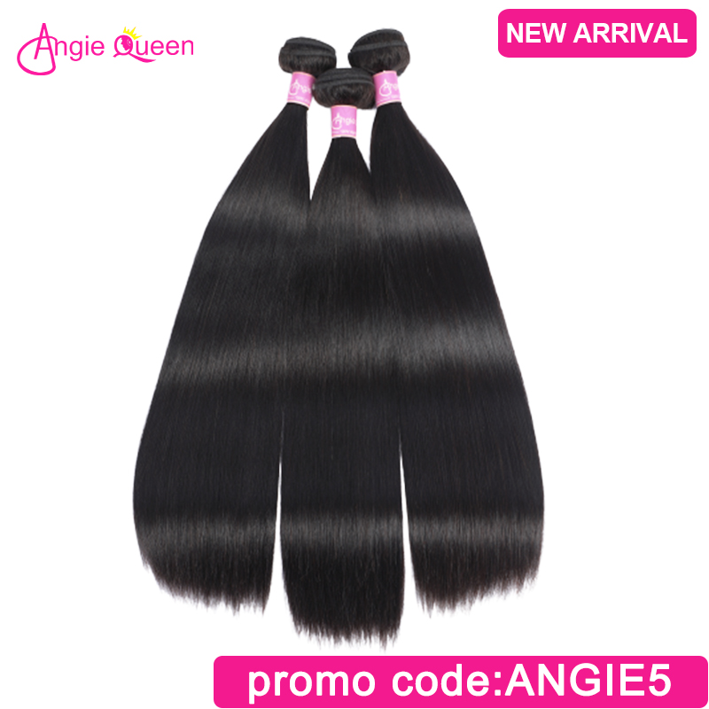 Straight Hair Bundles Brazilian Hair Weft 100% Human Hair Weaves Remy Hair Bundles Weaves 10 12 14 16 18 20 22 24 26 Angie Queen