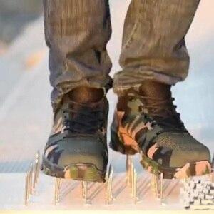 Image 4 - Nmsafety 建設男性の屋外鋼つま先キャップワークブーツの靴男性迷彩パンク証拠安全靴通気性