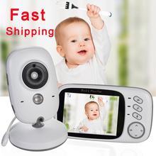 VB603 Monitor inalámbrico para bebés, vídeo a Color con LCD de 3,2 pulgadas, Audio bidireccional, conversación, visión nocturna, cámara de seguridad de vigilancia, niñera