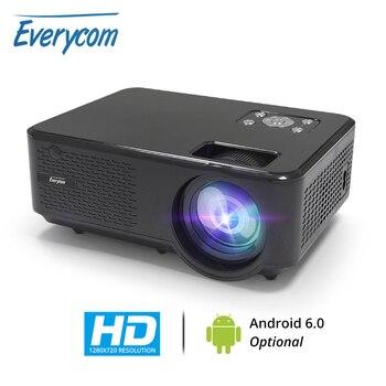 Everycom M8 mini Projetor 720P Apoio Max 1080P Beamer AC3 Áudio Android 6.0 Bluetooth Wi-fi De Vídeo LEVOU 4000 Lumens Home Theater,Este é um código de desconto 50 menos 7: DISC7