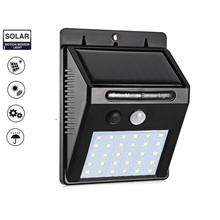 30 LEDs Solar Powered Light PIR Motion Sensor 3 Modes Waterproof Garden Street Night Lamp Wall lamp security emergency spot lamp