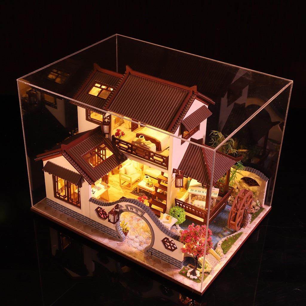Hb89e03f18b3c4a198cbda3347b088e91k - Robotime - DIY Models, DIY Miniature Houses, 3d Wooden Puzzle
