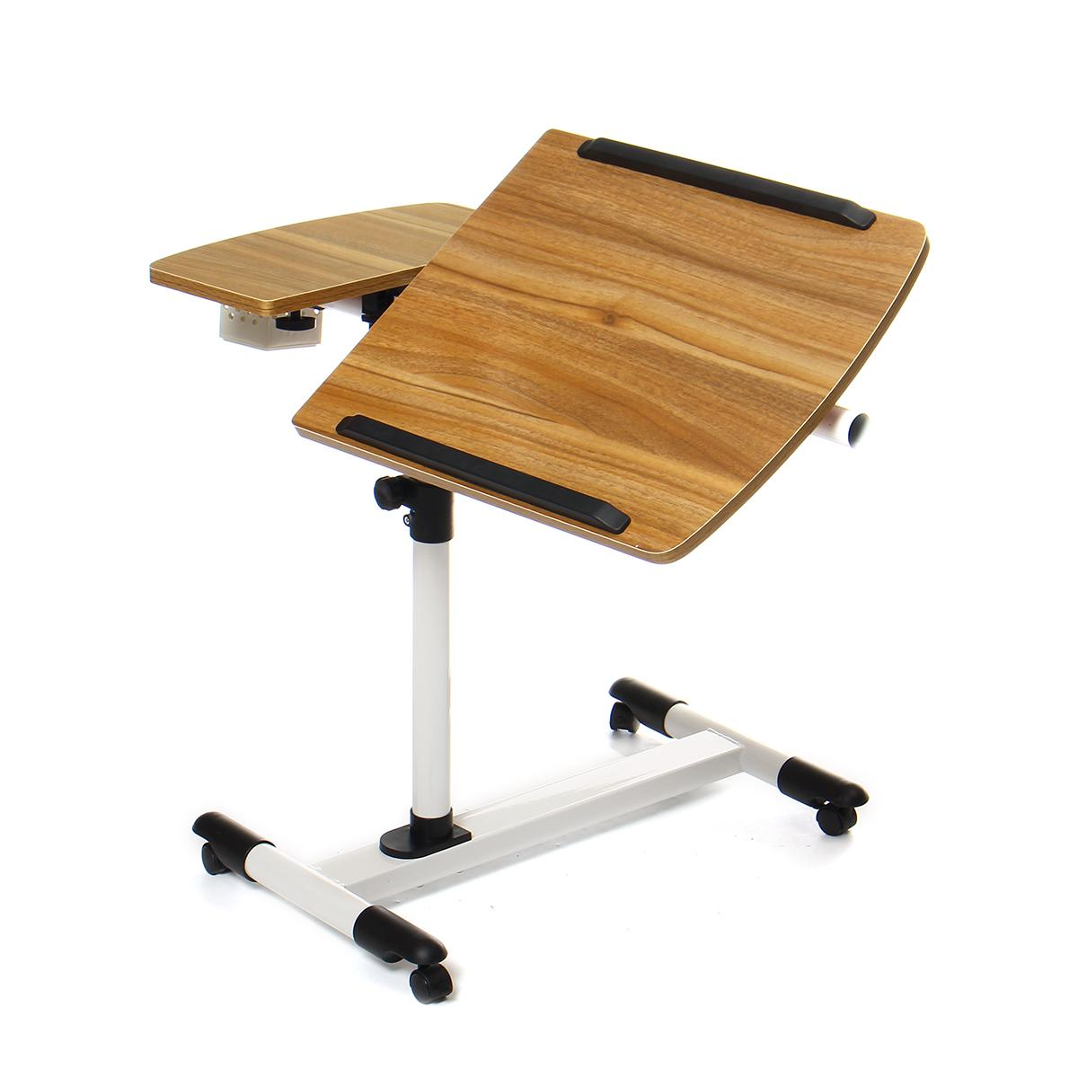 Ancient Oak Adjustable Portable Laptop Desk Rotatable Laptop Desk Foldable Computer Desk Liftable Standing Desk 68 * 40CM