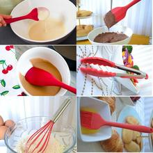 Silicone Non-stick Cooking Utensils Tools Set Heat Resistant Spoon Spatula Egg Beaters Kitchen Dinnerware Gadgets Accessories