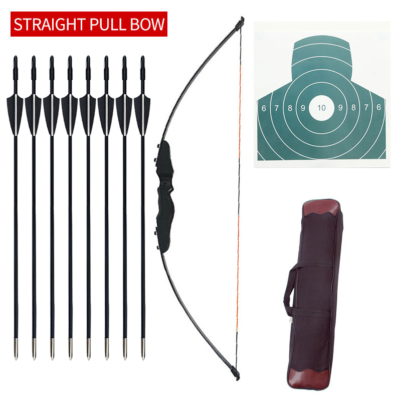 30/40 lbs Hunting Archery Bow Recurve Bow Outdoor Shooting Bow And Arrow Equipment Traditional Long Bow Professional Accessories image