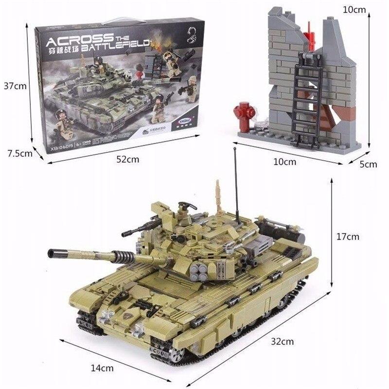 1386Pcs XINGBAO Building Blocks XB-06015 Compatible легоe Tank Cross The Battlefield Series Ww2 Tank Model Gift To Children 1