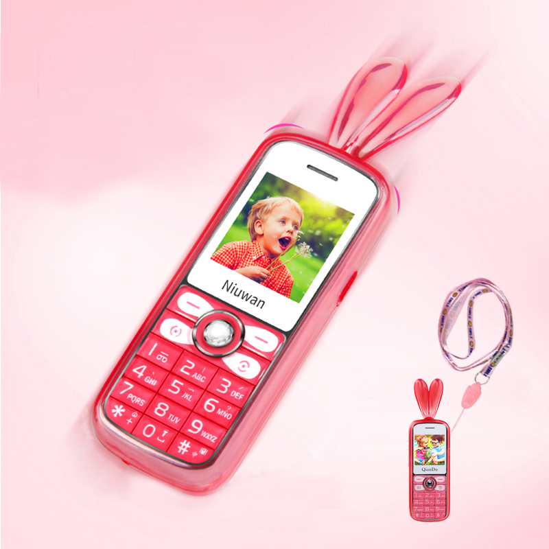 Lovely Unlocked Mini Phone LED MP3 Vibration Camera ​Speed Dial Cell Phones Child Push-button Telephone Cheap Small Mobile Phone